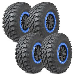 32 Maxxis Rampage Tires 14 System3 Sb4 6+1 Wheels Blue Can-am Maverick X3
