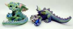 2 Franklin Mint Mood Dragons Sneaky And Gloomy