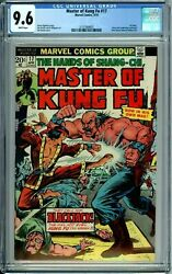 Master Of Kung Fu 17 Cgc 9.6 Wp Rare In Hg Shang-chi New Cgc Case Marvel 1974