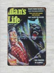 Old Advertising Signs Manand039s Life Grizzly Bear Metal Tin Sign