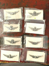 8 Sealed,brand New Vintage U.s.army Aviator Wings,2.5, Crewman And Pilot,6 Diff.