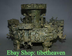 21.2 Ancient China Bronze Ware Shang Dynasty Monarch Zun Plate Drinking Vessel