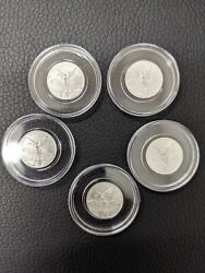 Lot Of 5 2017 Mexico 1/20 Oz 999 Silver Libertad Bu In Capsule Only 8550 Minted