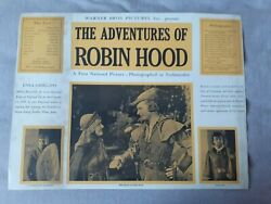 The Adventures Of Robin Hood With Errol Flynn Original/authentic Set Of 8