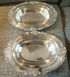 2 Vintage Reed And Barton Sterling Silver Francis I No. 571a Serving Dishes Bowls