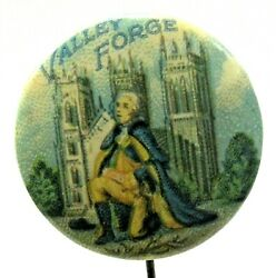 Early Circa 1920's George Washington Valley Forge 7/8 Pinback Button A3