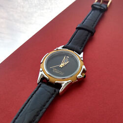 Disney Club 33 Watch Limited Edition Womenand039s Black-gold-silver Face Leather Band
