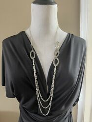 Silpada N1720 Sterling Silver 925 Oval Chain Links 32 Necklace 52