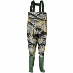 Waterproof Chest Waders Nylon Pvc Cleated Bootfoot Fishing And Hunting Camouflage