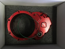 Ducabike For Ducati Clear Clutch Cover Oil Bath Red Ccdv01aa Hypermotard Ss Mt