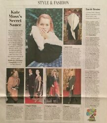 Kate Moss Interview Vintage Clothes The Wall Street Journal Article Wsj