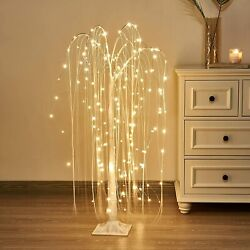 4ft 180led White Willow Tree Light With Fairy Lights Warm White For Home Wedding