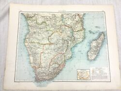 1896 Antique Of South Africa Cape Town Madagascar African German 19th Century