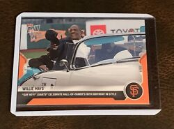 2021 Topps Now 186 Willie Mays - Numbered 1/5 Orange Parallel - 90th Birthday