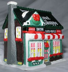 Christmas Village Coca Cola Town Square Jennys Sweet Shoppe W Light Tested Mint