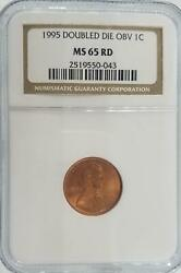 Double Die 1995 Lincoln Cent | Ngc Ms 65 Rd | Error Coin Key