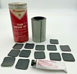 Vintage Riverside Bicycle Tire Tube Repair Kit Patches Montgomery Ward Wards 690