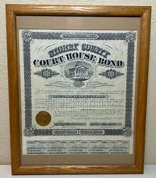 1877 Storey County Nevada Court House Bond To Sutro And Co. In Virginia City