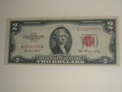 2 1953 Two Dollar Us Notes Red Seal Bill Birthday/anniversary Note A10122005a