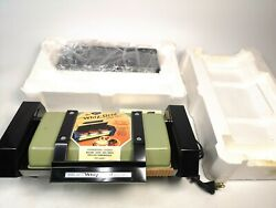 Vintage Mirro Matic Whiz-grid Electric Speed Grill Avocado Panini Griddle New