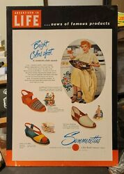 Lucille Ball Store Display Shoe Sign 1949 I Love Lucy Bob Hope Rare