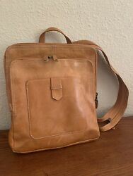 Chaos Camel Leather Backpack Purse $34.95