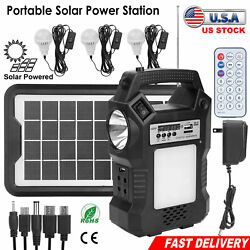 Portable Power Station Solar Generator Panel Power Bank Outlet Camping Emergency