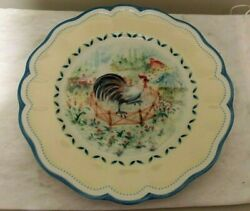 Lenox Provencal Garden Rooster, Accent Plate - 9 1/2 Inch New