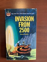 Signed Invasion From 2500 Science Fiction Ted White Terry Carr Norman Edwards