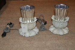 Sold Out Pair Anthropologie Antique Mirror Silver Mercury Glass Desk Table Lamps