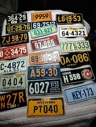 21 Vintage Cereal Bike Mini License Plate Old 50's And 79