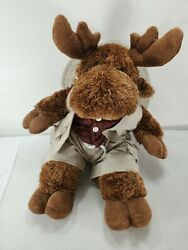 16 Bear Factory Moose Plush In Outdoor Outfit Stuffed Animal Toy