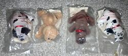 Lot Of 4 Vintage 1980s Pound Puppies Plush Toys 1987 Great Condition