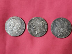 USA Hobo Nickel COINS Engraving Coins LOT of 3 different Silver Dollar coins $31.99