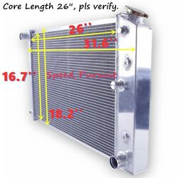 4-row Aluminum Radiator Fit 1978-1987 Pontiac Grand Prix/ Olds Cutlass 26and039and039 Core