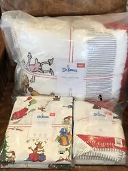 New Pottery Barn Teen Dr. Seussand039s Twin Quilt Sham Max Sheet Set Christmas