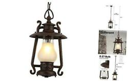 Vintage Outdoor 1-light 72.8and039and039 Adjustable Exterior Rust 1 Pack Pendant Light