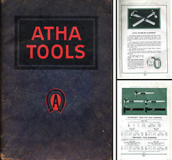 Atha Tool Co., Newark, New Jersey - Catalog No. 25 - 1926 - 39 Pages