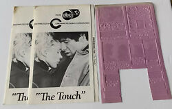 Vintage The Touch Movie Advertising Printing Mold Flong And Press Books Lot