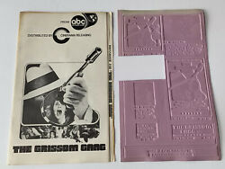 Vintage The Grissom Gang Movie Advertising Printing Mold Flong And Press Book Lot