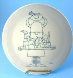 Vintage Bing And Grondahl Antoni Trivet Wall Plaque Viking With Wine And Cheese Tray