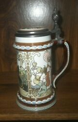 Mettlach Villeroy/boch Beer Stein Etched Brothers Grimm Fairy Tales 2902 C1980s