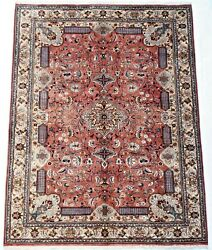 Rust Color 6.5 X 10 Ft Large Wool And Silk Carpet Oriental Area Rug For Bedroom