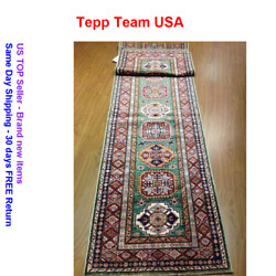 Oriental Rug Fine Super Kazak Wool Hand Knotted Tribal Design 2and0397x 11and0399 Runne