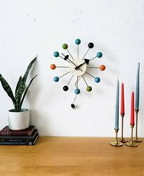 Authentic Vintage George Nelson Howard Miller Multi-colored Ball Clock 4755