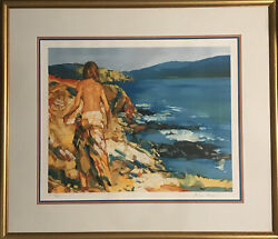 Nicola Simbari St Kitts Hand Signed And Numbered Lithograph + Coa / Rs