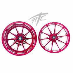 Yzf 240 Fat Tire Candy Pink Contrast Launch Wheels 2009-2014 Yamaha Yzf R1