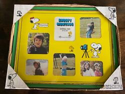 Vintage Peanuts Snoopy Montage Photograph Photo Frame 1971 Nos In Packaging