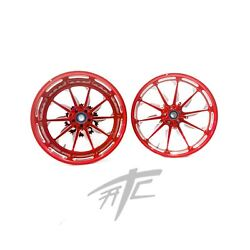 Yzf Stock Size Candy Red Contrast Launch Wheels 2009-2014 Yamaha Yzf R1
