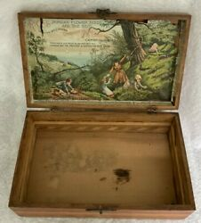 Antique Cambridge Valley Seed Co. Rice's Seeds Wooden Box General Store Display